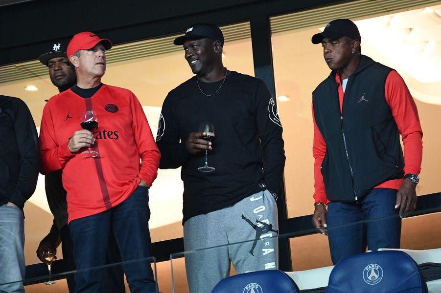 Michael Jordan au Parc des Princes mercredi.