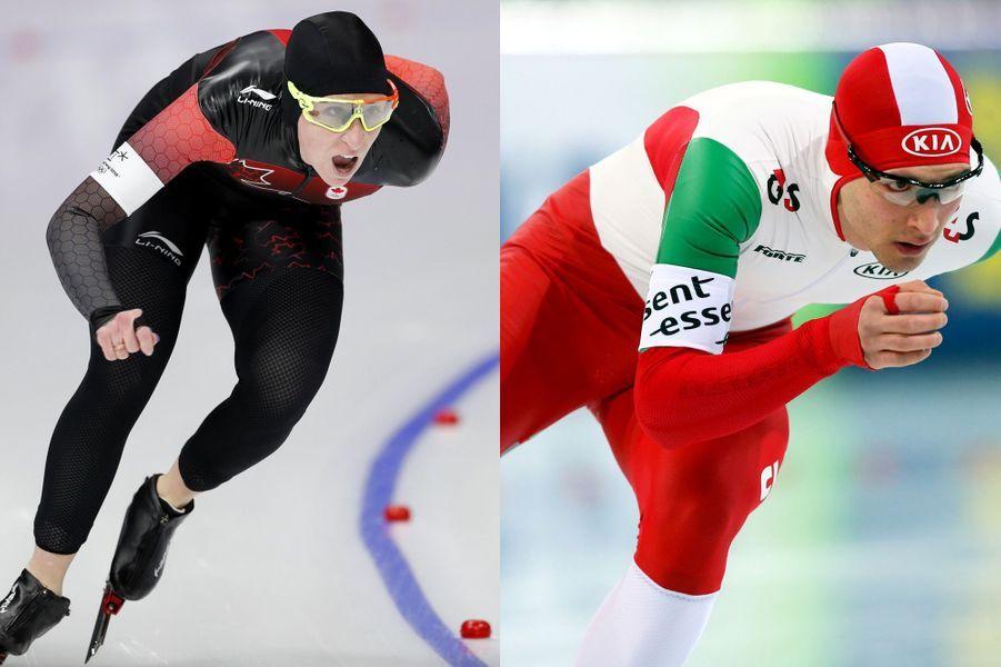 Konrad Nagy - Hongrie - et Ivanie Blondin - Canada - (patinage de vitesse)