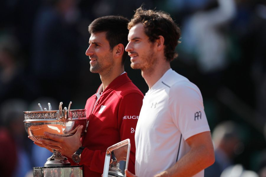 Novak Djokovic et Andy Murray.