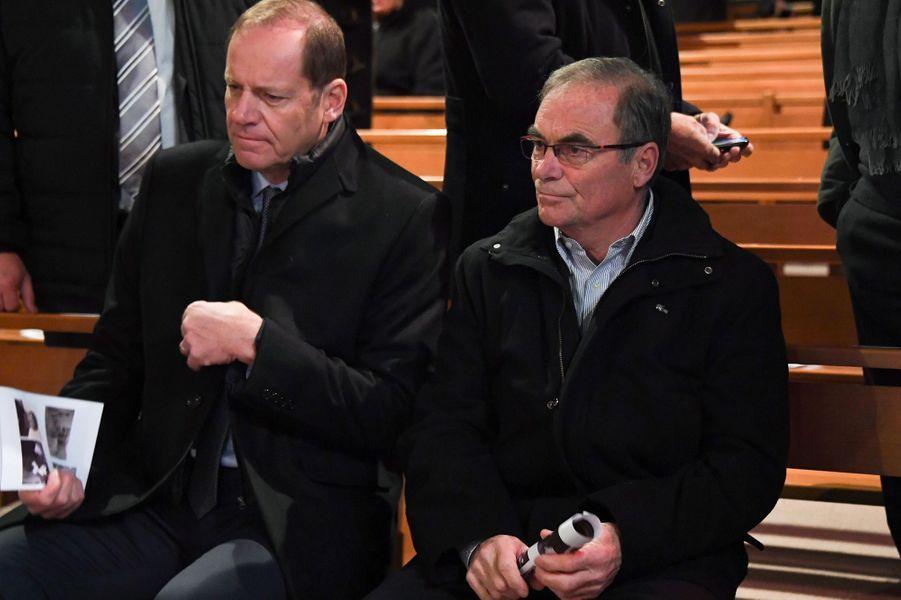 Le directeur du Tour de France Christian Prudhomme et former l'ancien cycliste Bernard Hinault