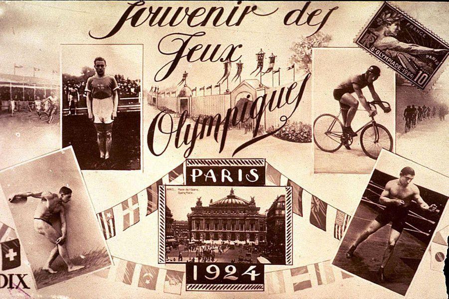 Carte postale des JO 1924