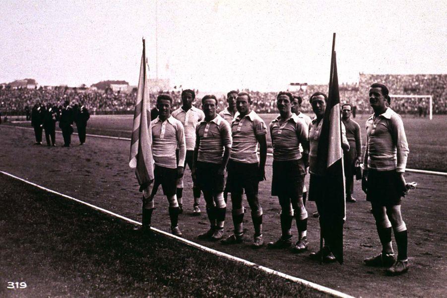 L'équipe d'Uruguay a fait le déplacement jusqu'à Paris.