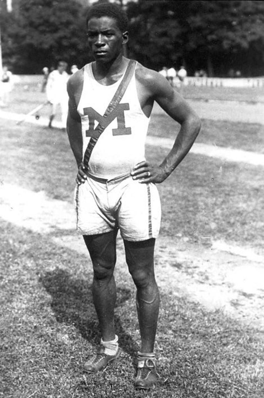 Le coureur Amer Hubbard, 1924.