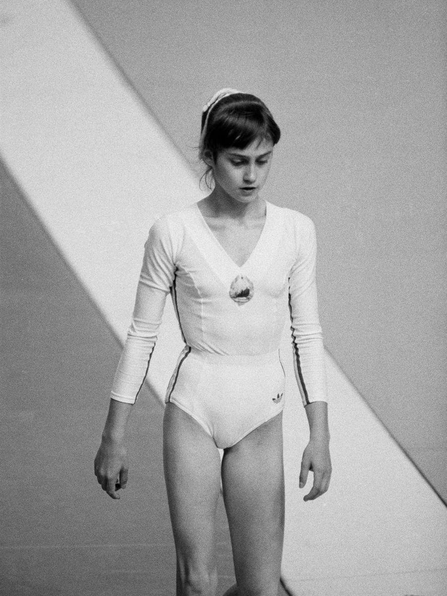 JO de Montréal, 1976. La gymnaste roumaine Nadia Comaneci.