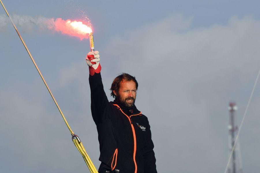 Thomas Coville accueilli à Brest en héros