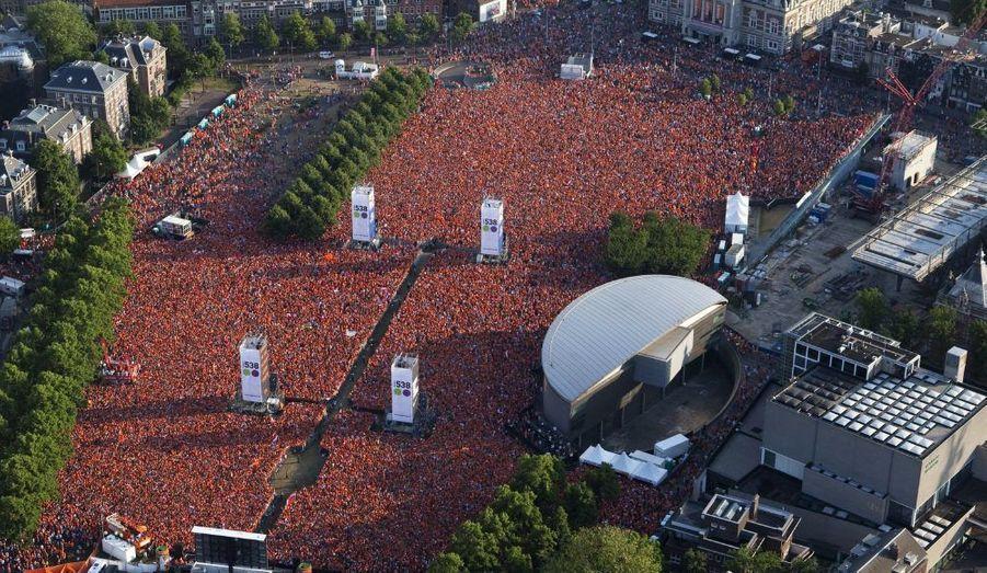 Les Pays-Bas étaient derrière leur équipe, comme ici à Amsterdam.