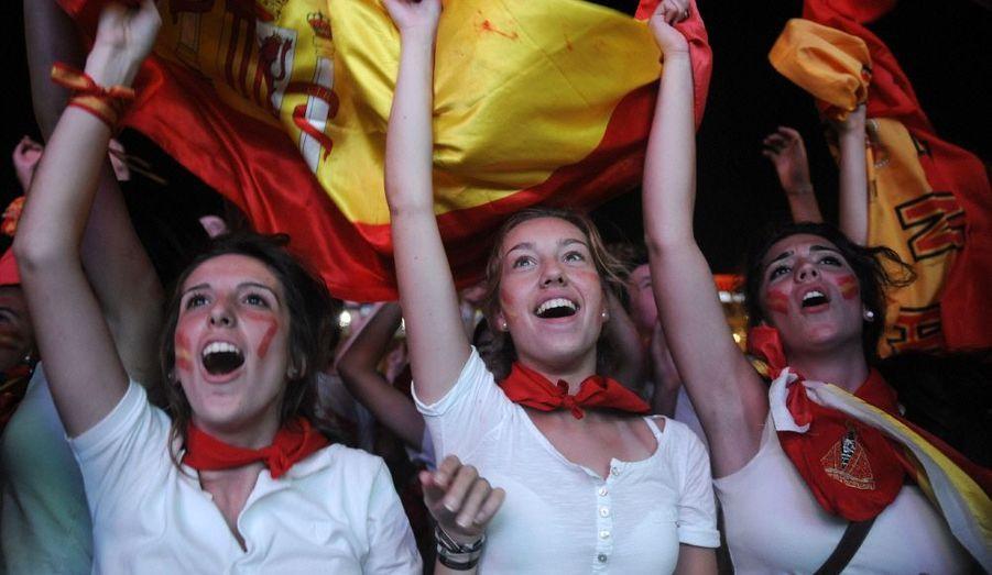 Les supportrices de la Roja sont aux anges ! L'Espagne est championne du monde.