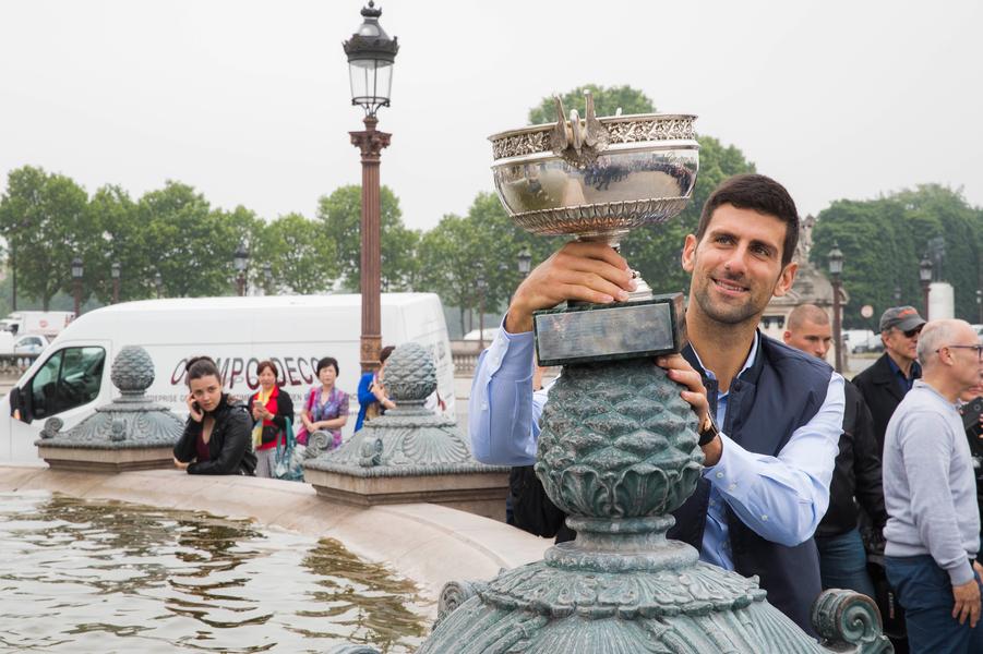 Novak Djokovic, place de la Concorde
