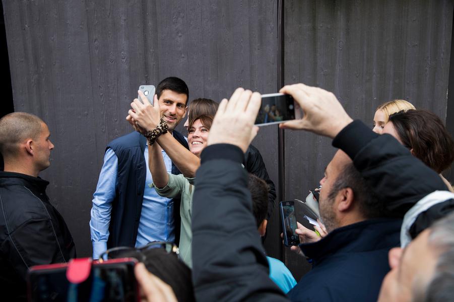 Selfie avec Novak Djokovic
