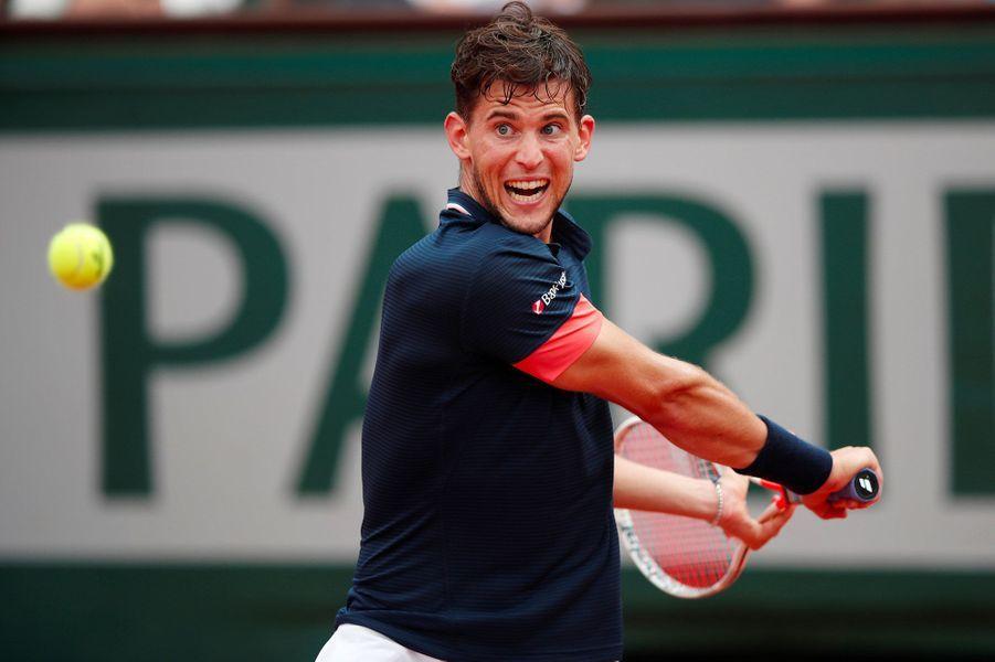 Dominic Thiem lors de la finale de Roland-Garros, le 10 juin 2018.