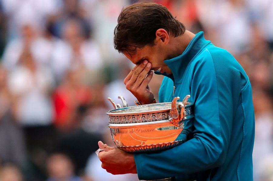 Nafael Nadal lors de la finale de Roland-Garros, le 10 juin 2018.