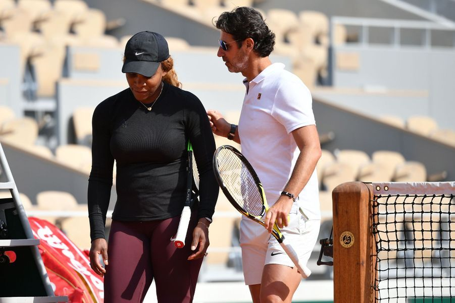 Serena Williams et son coach Patrick Mouratoglou