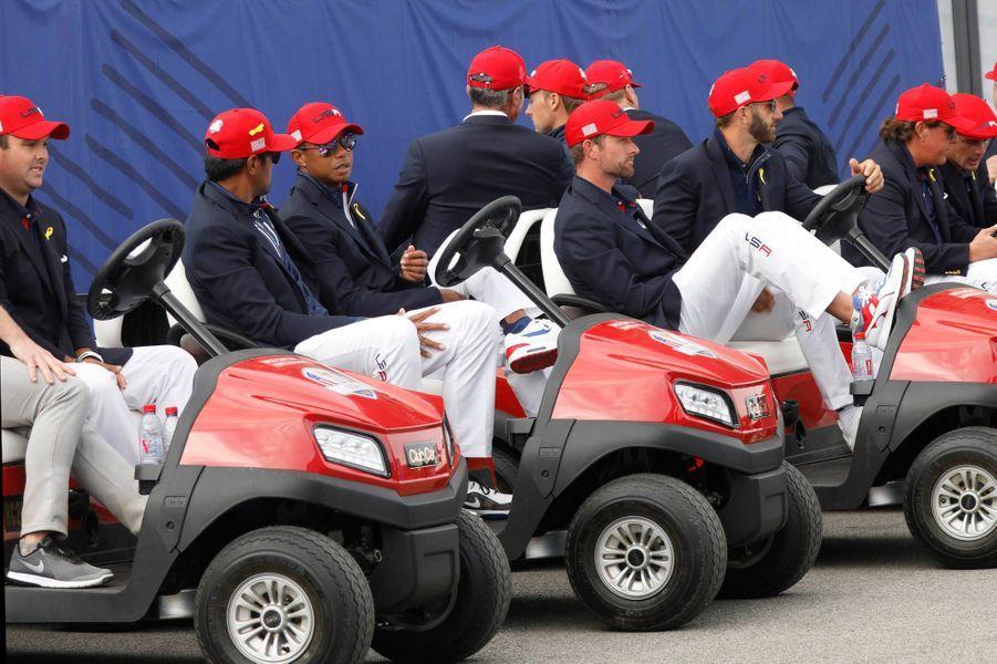 L'équipe américaine dépitée après la défaite.