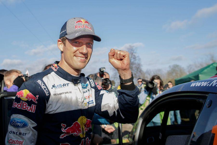 Sébastien Ogier après son nouveau titre de champion du monde des rallyes.