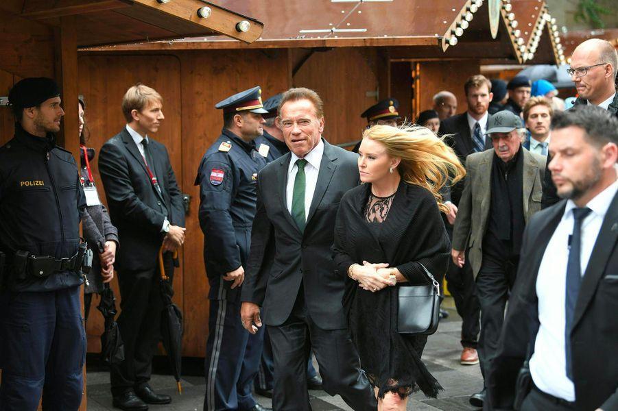 Arnold Schwarzeneggeraux obsèques de Niki Lauda à Vienne, le 29 mai 2019.