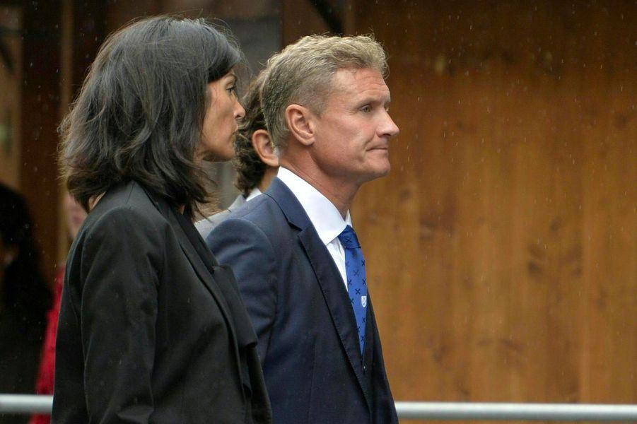 David Coulthard aux obsèques de Niki Lauda à Vienne, le 29 mai 2019.
