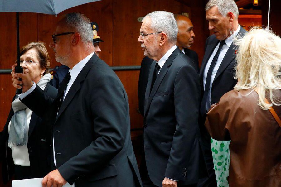 Le président autrichienAlexander van der Bellenaux obsèques de Niki Lauda à Vienne, le 29 mai 2019.