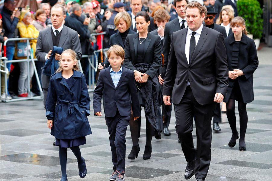 La famille de Niki Laudaà ses obsèques à Vienne, le 29 mai 2019.
