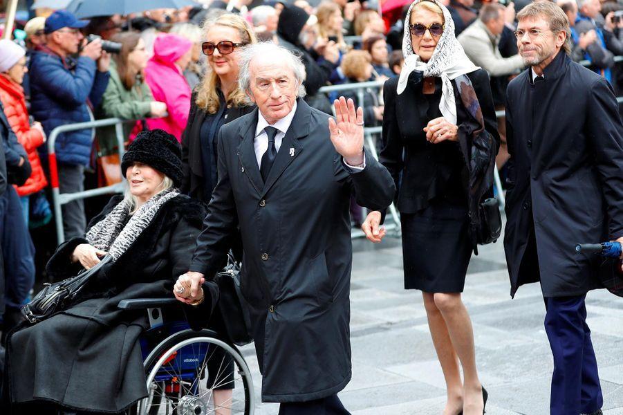 Jackie Stewartaux obsèques de Niki Lauda à Vienne, le 29 mai 2019.