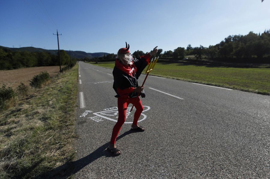 El Diablo seul sur les routes entreGap et Privas, le 2 septembre.