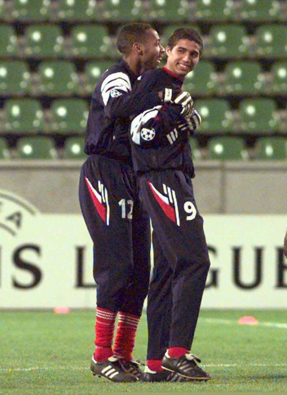 Thierry Henry et David Trezeguet sous le maillot monégasque.