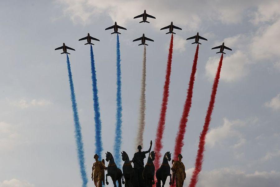 La patrouille de France était au rendez-vous.