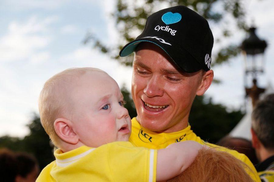 Chris Froome et son bébé