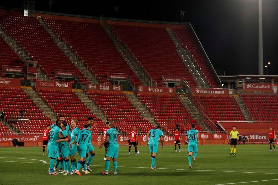 Lors du match du Barça face à Majorque, le 13 juin 2020.