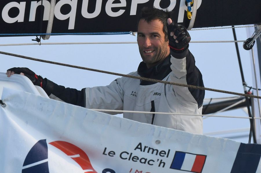 Armel Le Cléac'h sur son monocoque Banque Populaire VII.