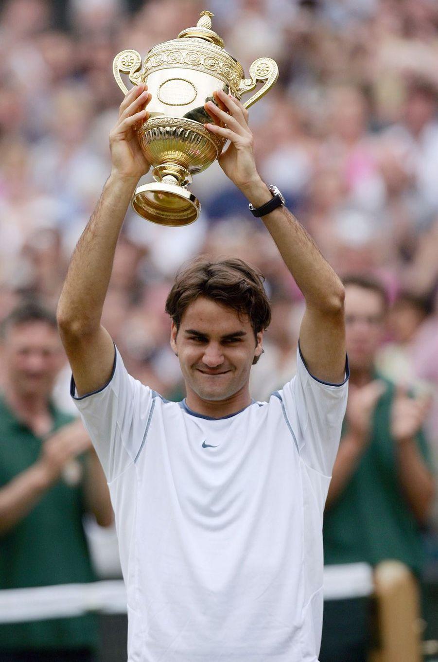 Victoire de Roger Federer à Wimbledon en 2005.