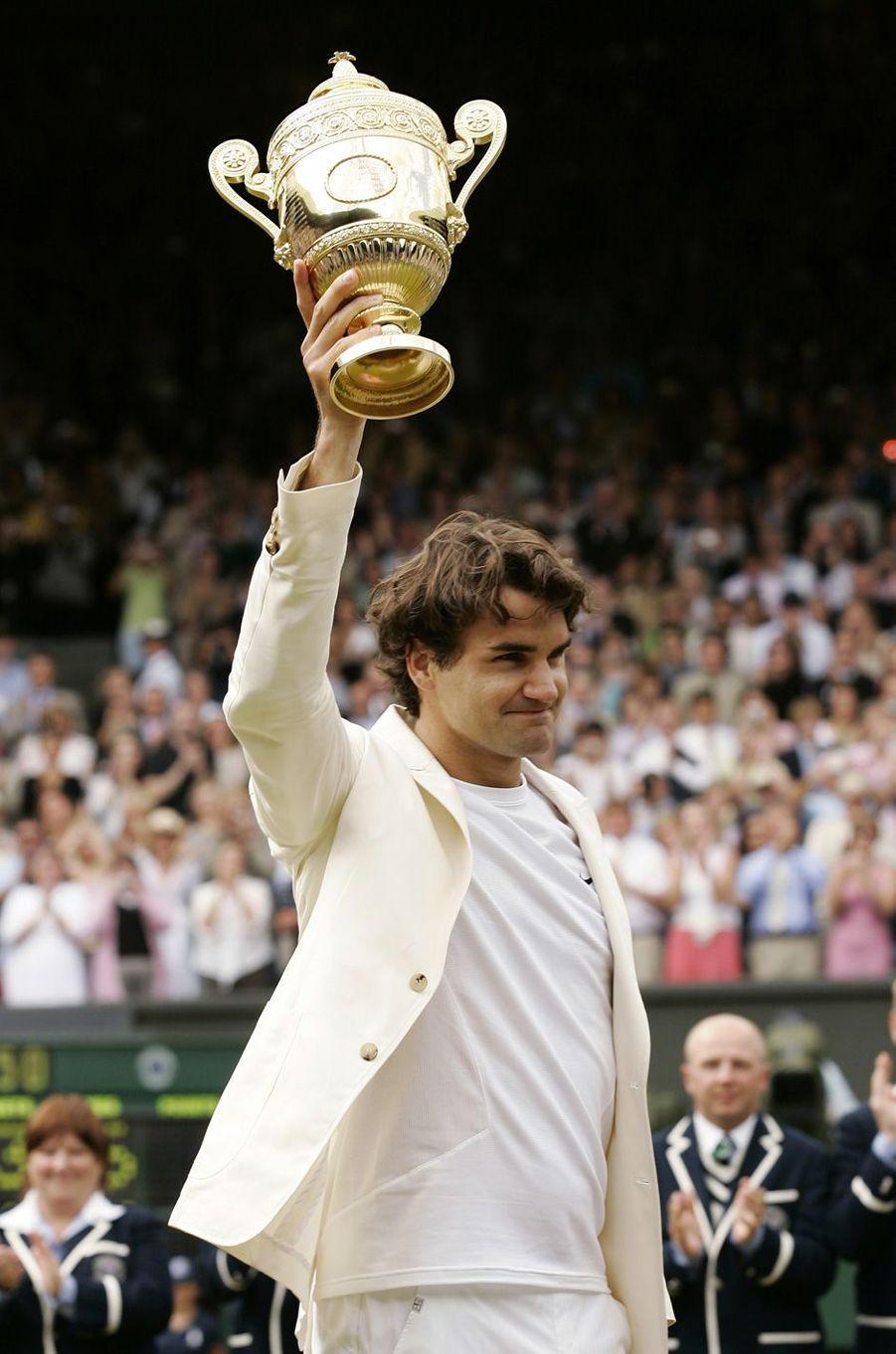 Victoire de Roger Federer à Wimbledon en 2006.