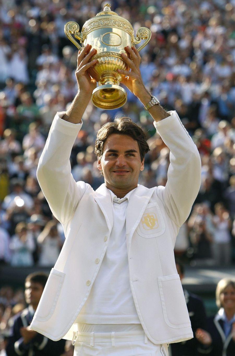 Victoire de Roger Federer à Wimbledon en 2007.