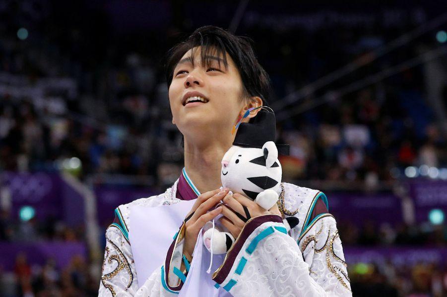 il a totalisé 317,85 points et devancé un autre Japonais, Shoma Uno (306,90), vice-champion du monde en titre