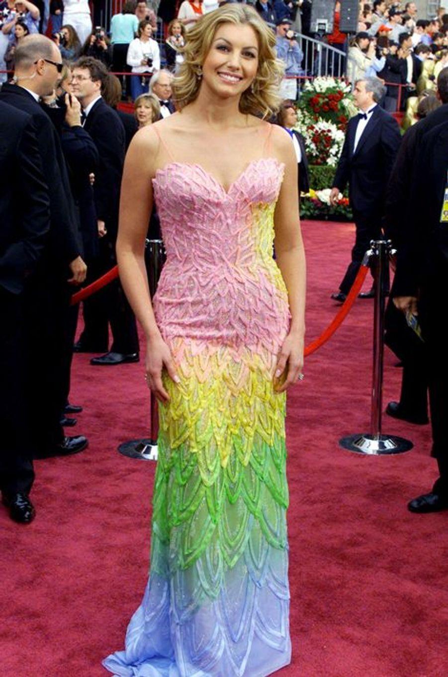 Faith Hill aux Oscars en 2002