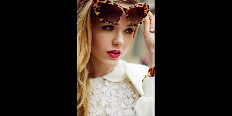 Le motif léopard est parfait pour une jolie paire de lunettes de soleil qui sortent de l'ordinaire, ici dans un esprit rétro (voir l'épingle)Suivez nous sur Pinterest!