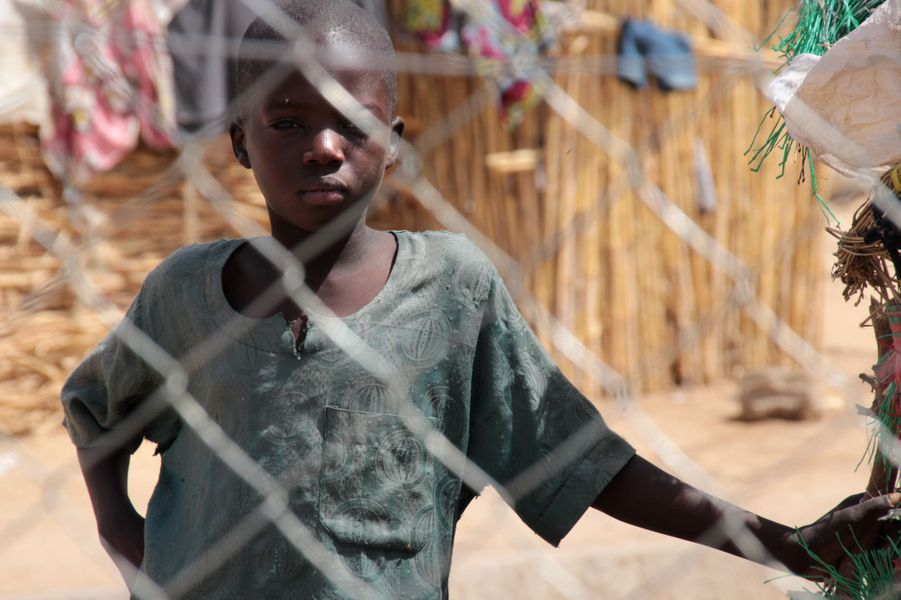 Camp de Pompomari à Damataru, Nigéria, le 26 janvier 2017