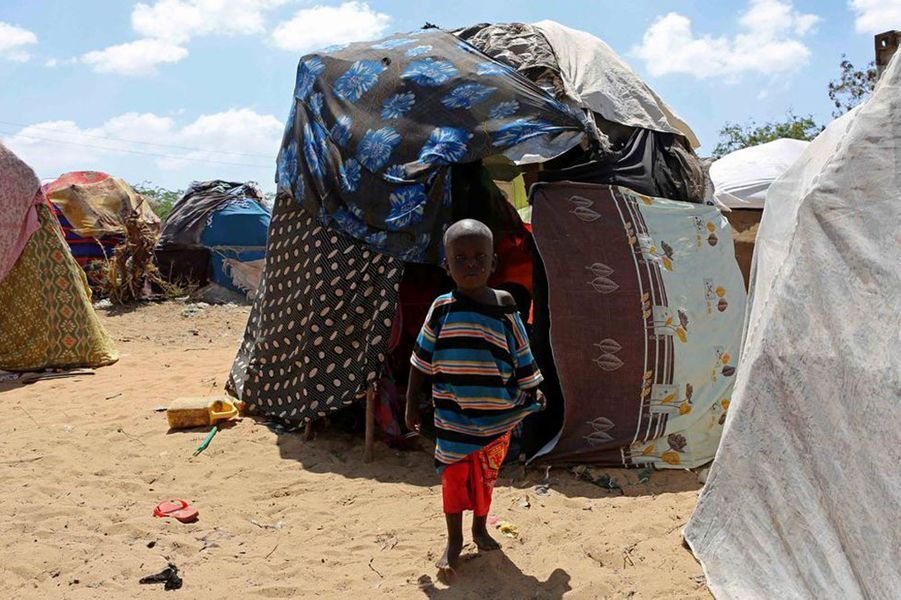 Camp de Kaxda à Mogadiscio, Somalie, le 2 mars 2017