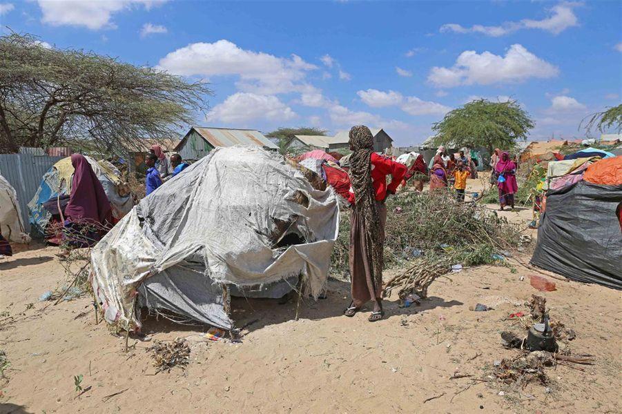 Camp de kaxda à Mogadiscio, Somaile, le 8 mars 2017