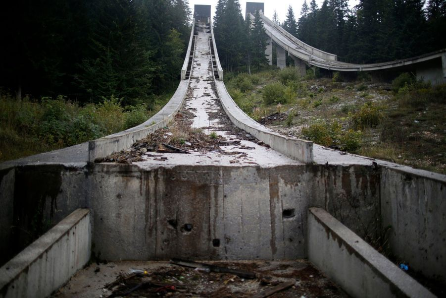 La piste de bobsleigh