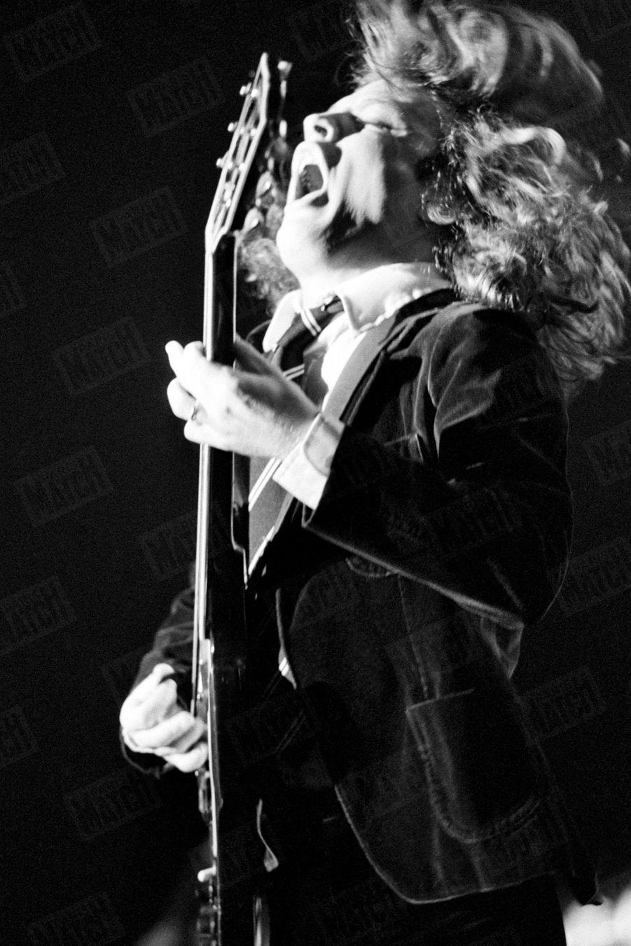 AC/DC en concert au Bourget-la Rotonde, pour leur «Back in Black Tour», les 29 et 30 novembre 1980.