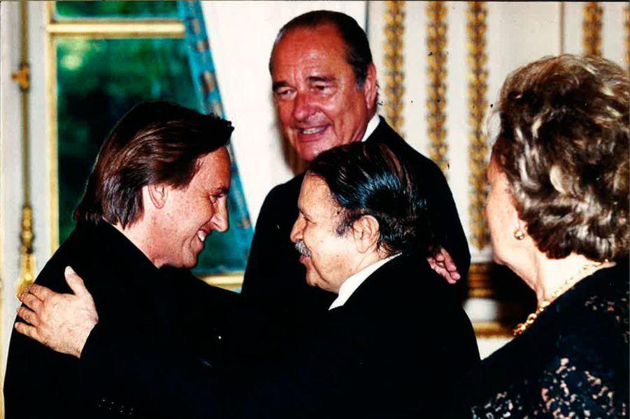 Visite officielle à l'Elysée avec le président Bouteflika, le président Jacques Chirac et sa femme Bernadette