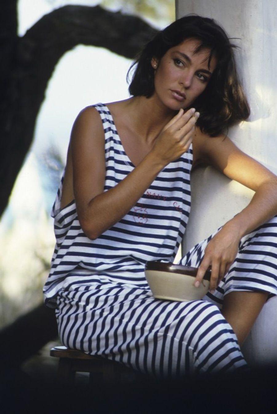 Anne Parillaud en juillet 1985.