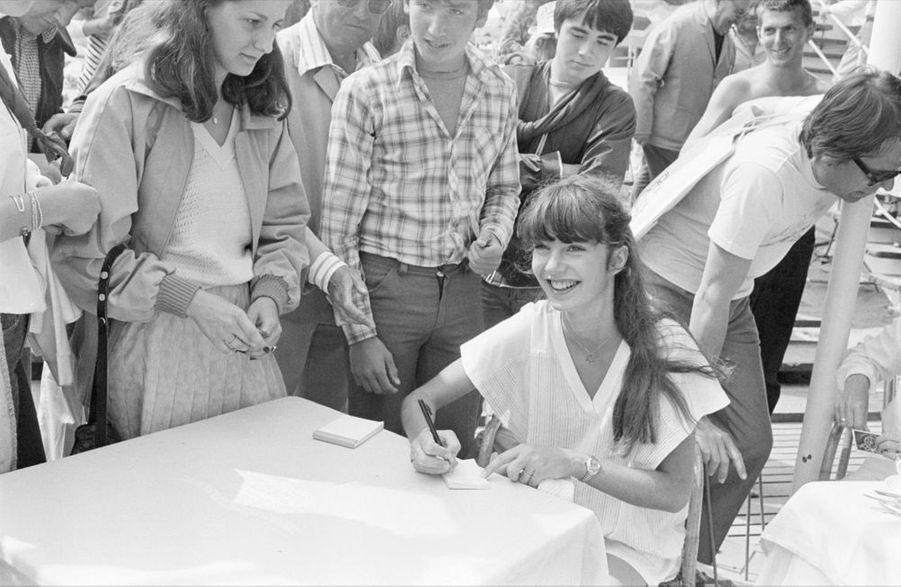 Anne Parillaud lors du 31ème Festival de Cannes, en mai 1978.