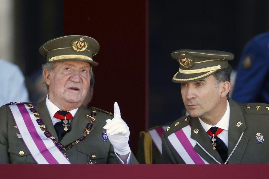 Juan Carlos et Felipe, père et fils complices