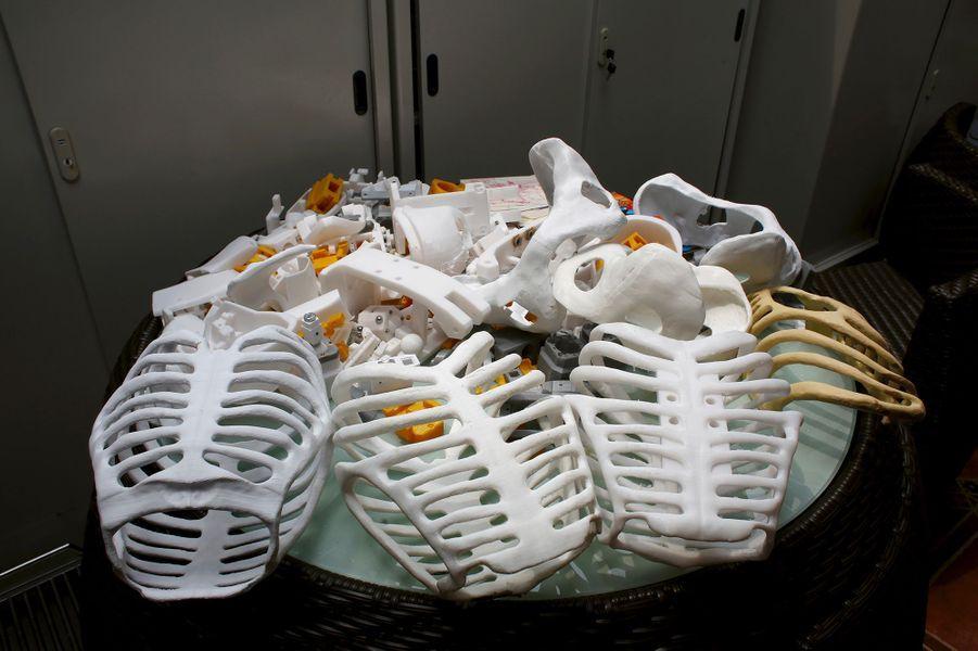 Le squelette du robot a été imprimé en 3D