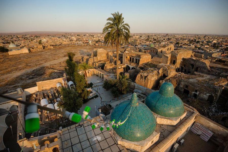 Vue de la citadelle de Kirkouk depuis le minaret de la mosquée ou selon la tradition locale repose le prophète biblique Daniel.
