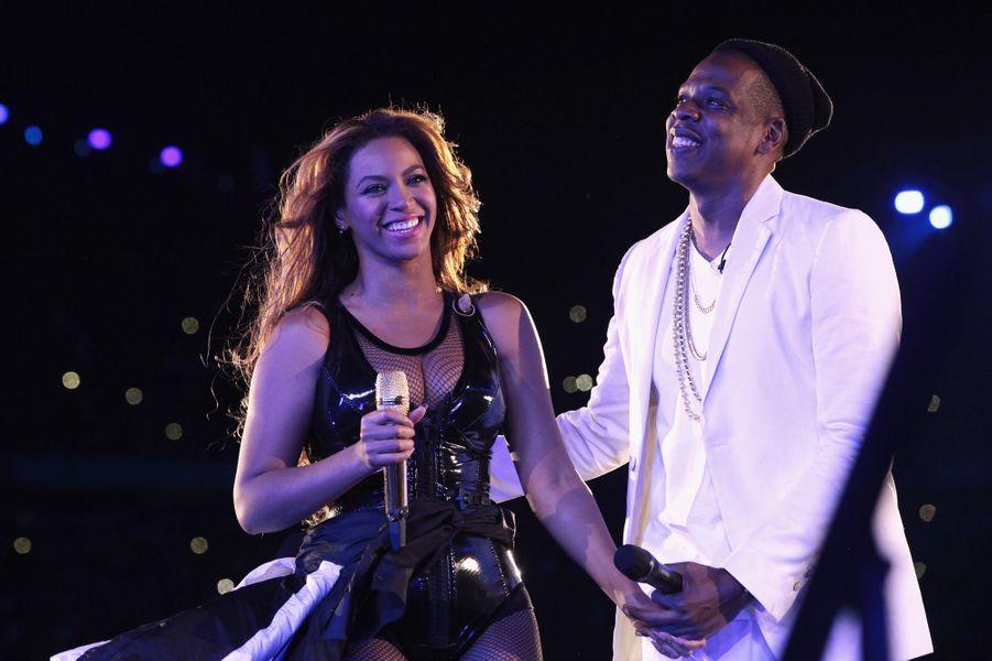 Beyoncé et Jay Z sur la scène du Stade de France