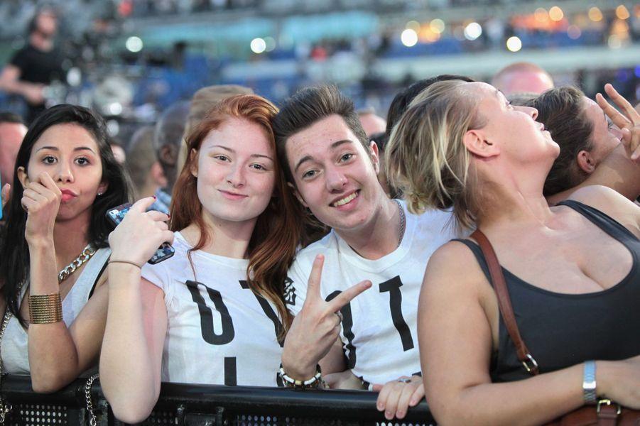 Les fans de Beyoncé et Jay Z au Stade de France