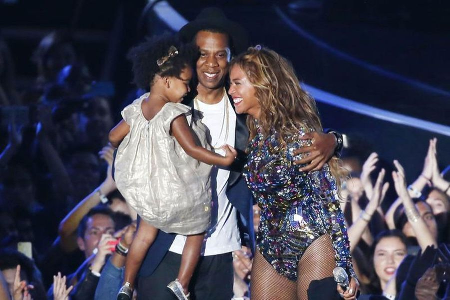 Avec leur fille Blue Ivy au MTV Video Award.