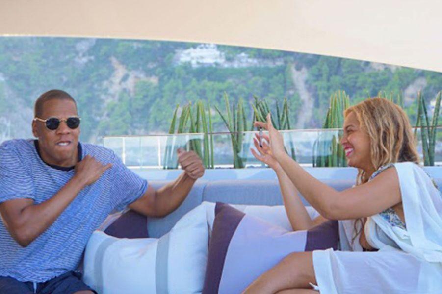 Jay Z et Beyoncé en vacances, en 2015